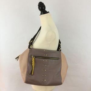 ORYANY multicolor leather satchel handbag