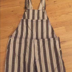Vintage striped overalls
