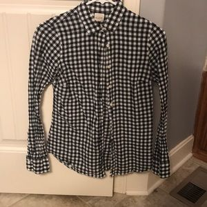 Women's  black and white gingham perfect shirt