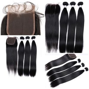Indian Straight hair 3 bundles and Closure