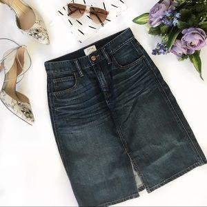 J. Crew | Denim Front-slit Pencil Skirt
