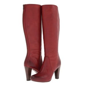 Frye Marissa Red Back Zip Boots