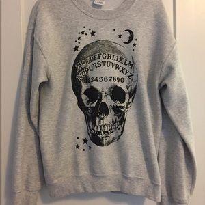 Ouija board crew neck sweater