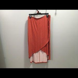 Orange and black Hi-Lo Attention skirt size XL