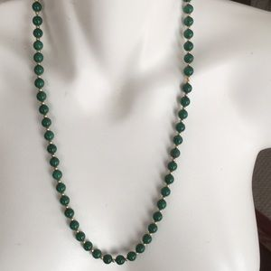 Outrageous Vintage Green Glass Necklace ❤️