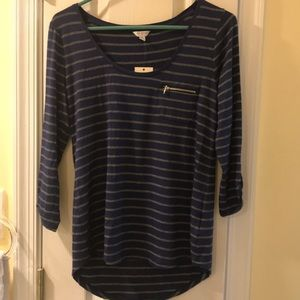 Guess Navy and gray 3/4 sleeve light material