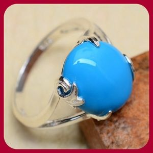 Blue Turquoise Howlite Ring