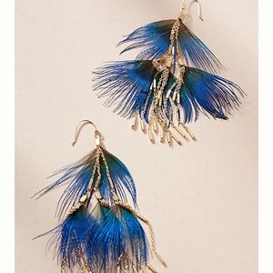 Anthroplogie  Cornelia Feather Drop Earrings