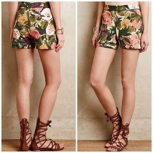 Anthropologie Elevenses Ranunculus Bloom Shorts