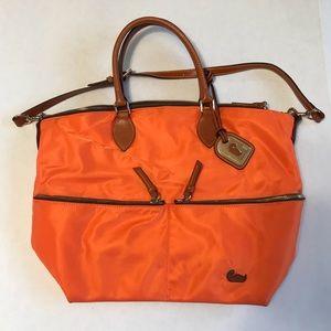 Dooney & Bourke Large Orange Nylon Shoulder Bag