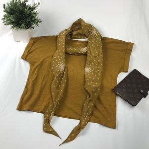 Eileen Fisher Hemp Blend Cropped Top and Scarf