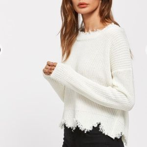 Sweaters - Last/Snow Droop Scalloped Sweater