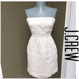 J.Crew Off White Strapless Size 6 Dress