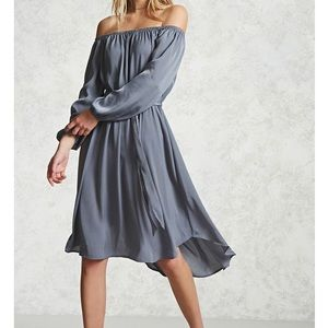 New with tags off the shoulder, hi low dress