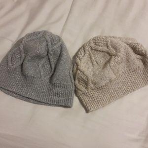Metallic Beanie Hats orig. $34