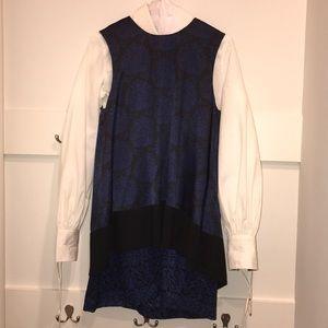 Coolest Rachel Roy Dress- Navy & Black Print sz 8