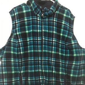 Basic Editions 3X Plaid Vest Warm and Comfy