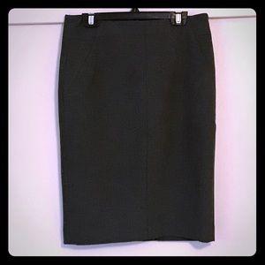 Gray Loft pencil skirt. Size 0