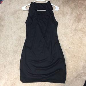 Black Cross Short Dress