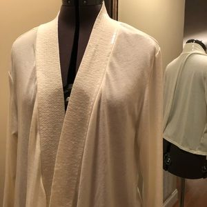 White jacket with sequins on lapel