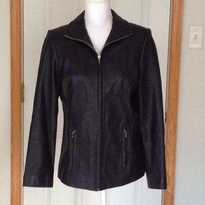 Valerie Stevens LAMBSKIN LEATHER jacket