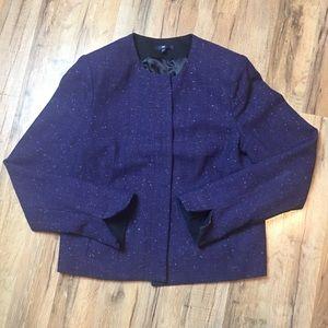 GAP wool blend speckled career blazer lined