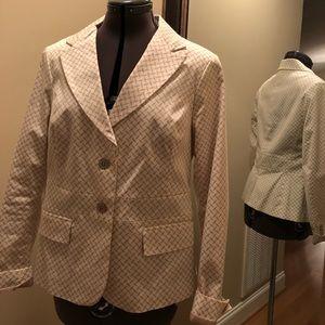 NY&CO beige and cream blazer