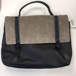Zara real leather/suede handbag w/shoulder strap