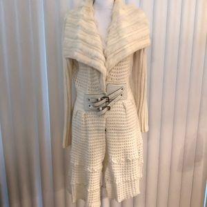 Cream sweater jacket