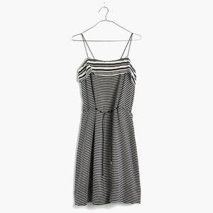 Madewell | Silk Striped Tie-waist Dress