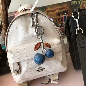 Coach Croc Embossed Leather Backpack