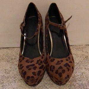 Cheetah forever 21 block heels