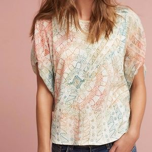 NWT Anthropologie Briony Puff Sleeve Top