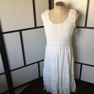Mlle Gabrielle White Peasant Gypsy Dress Size 1X