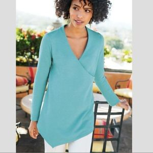 Soft Surroundings Say Anything Tunic Blue