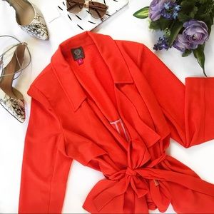 Vince Canute | Orange Drape Front Jacket