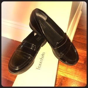 Franco Sarto Black Patent Leather Loafers 9.5‼️
