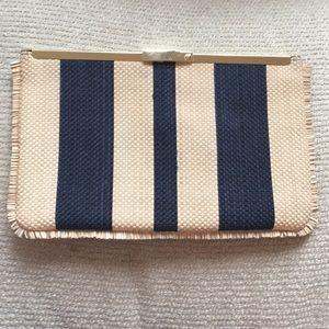 J. Crew Striped Clutch