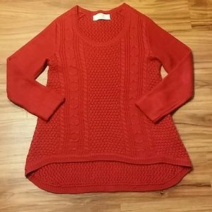 Beautiful Red Zaraknit sweater