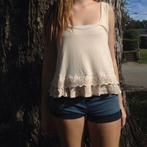 Forever 21 cream knit tank top