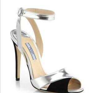 Prada SHINY SILVER heels