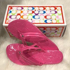 Pink Coach Flip Flops (7M)