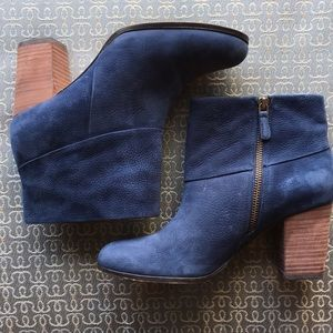 Cole Haan stacked suede bootie