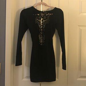 """""""One Rad Gal"""" Black Mini Dress"""