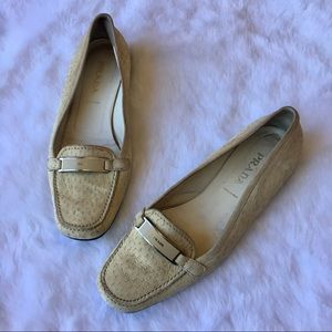 Authentic Prada Suede Loafers Flats Leather