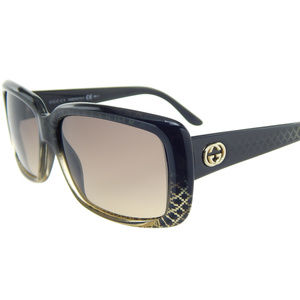 New Gucci GG3575/S W8HED Black-Gold/Gray Gradient