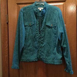 Unique jacket with ruffle edges