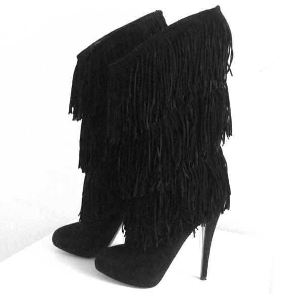 sale retailer 5bdea e1298 Christian Louboutin Forever Tina Fringe Boots