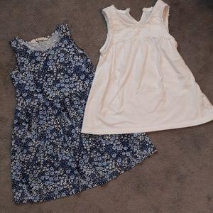 H&M Cotton Dress, White Top