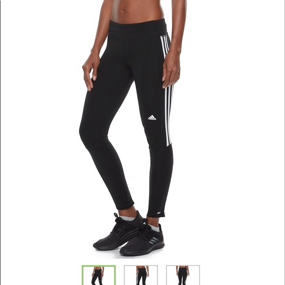 Adidas Response 3-stripe Zipper Ankle Tights